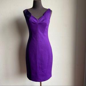 Tahari sz 2 block color sweetheart sheath dress